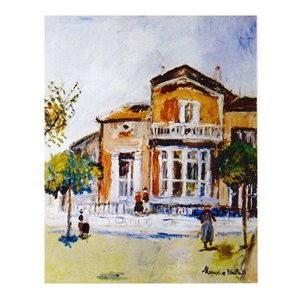 絵画 壁掛け 額縁 アートフレーム付き モーリス・ユトリロ 「ボンヌ・リュシーの家」 F6号 世界の名画シリーズ プリハード|touo