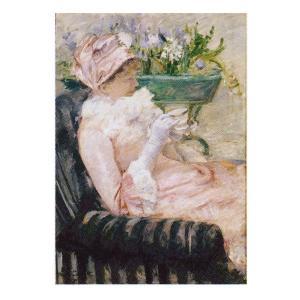 絵画 壁掛け 額縁 アートフレーム付き メアリー・カサット 「お茶の時間」 F6号 世界の名画シリーズ プリハード|touo