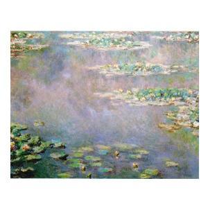 絵画 壁掛け 額縁 アートフレーム付き クロード・モネ 「睡蓮・水の風景」 F6号 世界の名画シリーズ プリハード|touo