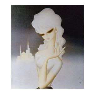 絵画 壁掛け 額縁 アートフレーム付き 東郷 青児 「遠い街」 F6号 世界の名画シリーズ プリハード|touo