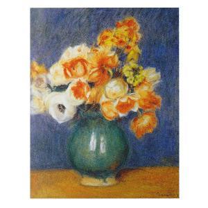 絵画 壁掛け 額縁 アートフレーム付き ピエール・オーギュスト・ルノワール 「青い花瓶のアネモネ」 F6号 世界の名画シリーズ プリハード|touo
