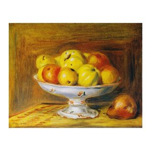 絵画 壁掛け 額縁 アートフレーム付き ピエール・オーギュスト・ルノワール 「リンゴ」 F6号 世界の名画シリーズ プリハード|touo