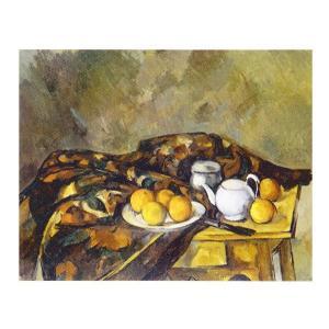 絵画 壁掛け 額縁 アートフレーム付き ポール・セザンヌ 「ティーポットのある静物」 F6号 世界の名画シリーズ プリハード|touo