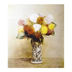 絵画 壁掛け 額縁 アートフレーム付き アンリ・ファンタン・ラトゥール 「ダリア」 F6号 世界の名画シリーズ プリハード|touo