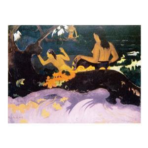 絵画 壁掛け 額縁 アートフレーム付き ポール・ゴーギャン 「ファタタ・テ・ミティ(海辺で)」 F6号 世界の名画シリーズ プリハード|touo