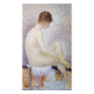 絵画 壁掛け 額縁 アートフレーム付き ジョルジュ・スーラ 「ポーズする女」 大全紙 世界の名画シリーズ プリハード|touo