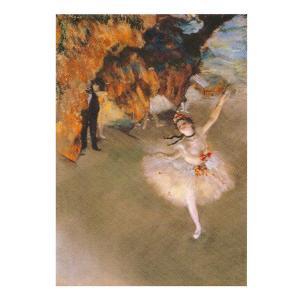 絵画 壁掛け 額縁 アートフレーム付き エドガー・ドガ 「舞台の踊り子」 F6号 世界の名画シリーズ プリハード|touo
