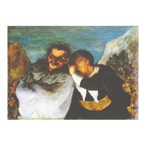 絵画 壁掛け 額縁 アートフレーム付き オノレ・ドーミエ 「クリスパンとスカパン」 F6号 世界の名画シリーズ プリハード|touo