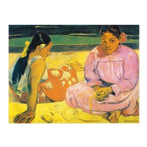 絵画 壁掛け 額縁 アートフレーム付き ポール・ゴーギャン 「タヒチの女(浜辺にて)」 F6号 世界の名画シリーズ プリハード|touo
