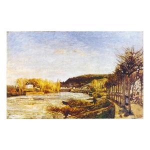 絵画 壁掛け 額縁 アートフレーム付き カミーユ・ピサロ 「プージヴァールのセーヌ河」 F6号 世界の名画シリーズ プリハード|touo