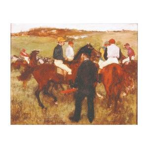 絵画 壁掛け 額縁 アートフレーム付き エドガー・ドガ 「競走馬」 F6号 世界の名画シリーズ プリハード|touo