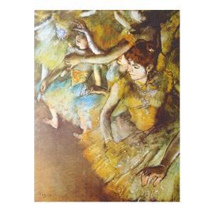 絵画 壁掛け 額縁 アートフレーム付き エドガー・ドガ 「バレエ・舞台の一隅」 F6号 世界の名画シリーズ プリハード|touo