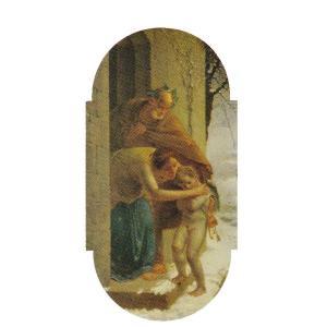 絵画 壁掛け 額縁 アートフレーム付き ジャン・フランソワ・ミレー 「冬」 M6号 世界の名画シリーズ プリハード|touo