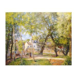絵画 壁掛け 額縁 アートフレーム付き カミーユ・ピサロ 「オスニーの水飲み場近くの風景」 F6号 世界の名画シリーズ プリハード|touo