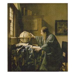絵画 壁掛け 額縁 アートフレーム付き フェルメール 「天文学者」 F6号 世界の名画シリーズ プリハード|touo