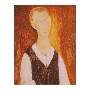 絵画 壁掛け 額縁 アートフレーム付き アメディオ・モディリアーニ 「若き農夫の肖像」 F6号 世界の名画シリーズ プリハード|touo