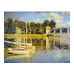 絵画 壁掛け 額縁 アートフレーム付き クロード・モネ 「アルジャントューユの橋」 F6号 世界の名画シリーズ プリハード|touo