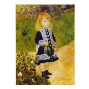 絵画 壁掛け 額縁 アートフレーム付き ピエール・オーギュスト・ルノワール 「じょうろを持つ少女」 F8号 世界の名画シリーズ プリハード|touo