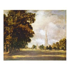 絵画 壁掛け 額縁 アートフレーム付き ジョン・コンスタブル 「ソールズベリー大聖堂」 F8号 世界の名画シリーズ プリハード|touo