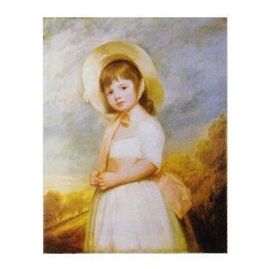 絵画 壁掛け 額縁 アートフレーム付き ジョージ・ロムニー 「ウィロビー嬢」 F8号 世界の名画シリーズ プリハード|touo