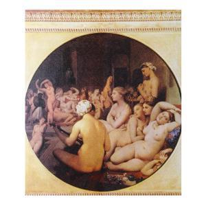絵画 壁掛け 額縁 アートフレーム付き ドミニク・アングル 「トルコ風呂」 F8号 世界の名画シリーズ プリハード|touo