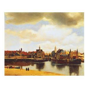 絵画 壁掛け 額縁 アートフレーム付き フェルメール 「デルフトの眺望」 F8号 世界の名画シリーズ プリハード|touo