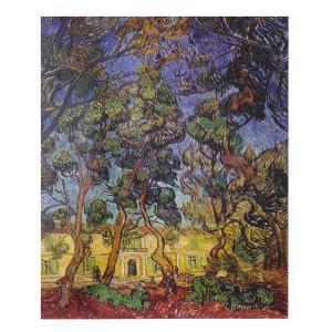 絵画 壁掛け 額縁 アートフレーム付き ヴィンセント・ヴァン・ゴッホ 「サン・レミの病院」 F8号 世界の名画シリーズ プリハード|touo