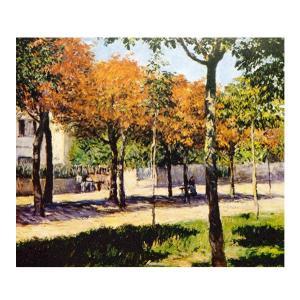 絵画 壁掛け 額縁 アートフレーム付き ギュスターヴ・カイユボット 「アルジェントゥーユの広場」 F8号 世界の名画シリーズ プリハード|touo
