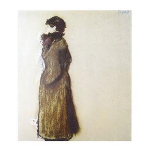 絵画 壁掛け 額縁 アートフレーム付き エドガー・ドガ 「エレン・アンドレ」 F8号 世界の名画シリーズ プリハード|touo