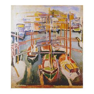絵画 壁掛け 額縁 アートフレーム付き ラウル・デュフィ 「マルセイユの古い港」 F8号 世界の名画シリーズ プリハード|touo