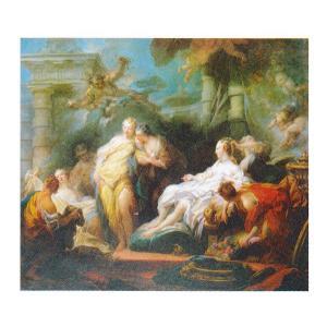絵画 壁掛け 額縁 アートフレーム付き ジャン・オノレ・フラゴナール 「プシュケ」 F8号 世界の名画シリーズ プリハード|touo