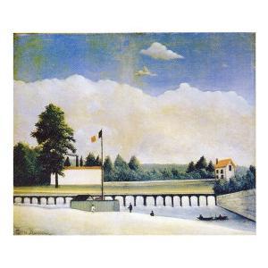 絵画 壁掛け 額縁 アートフレーム付き アンリ・ルソー 「ダム」 F8号 世界の名画シリーズ プリハード|touo
