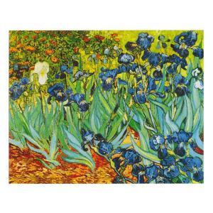 絵画 壁掛け 額縁 アートフレーム付き ヴィンセント・ヴァン・ゴッホ 「アイリス」 F8号 世界の名画シリーズ プリハード|touo