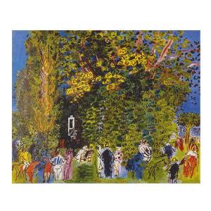 絵画 壁掛け 額縁 アートフレーム付き ラウル・デュフィ 「パドック」 F8号 世界の名画シリーズ プリハード|touo