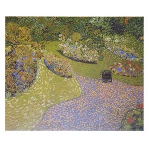 絵画 壁掛け 額縁 アートフレーム付き ヴィンセント・ヴァン・ゴッホ 「オーヴェールの庭」 F8号 世界の名画シリーズ プリハード|touo