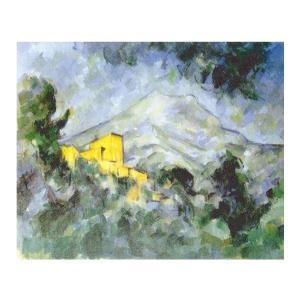 絵画 壁掛け 額縁 アートフレーム付き ポール・セザンヌ 「サント・ヴィクトワール山とシャトー・ノワール」 F8号 世界の名画シリーズ プリハード|touo