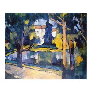 絵画 壁掛け 額縁 アートフレーム付き モーリス・ド・ブラマンク 「シャトーの家」 F8号 世界の名画シリーズ プリハード|touo
