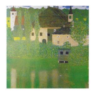 絵画 壁掛け 額縁 アートフレーム付き グスタフ・クリムト 「水辺の城」 F8号 世界の名画シリーズ プリハード|touo