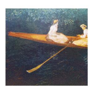 絵画 壁掛け 額縁 アートフレーム付き クロード・モネ 「エプト川の舟遊び」 F8号 世界の名画シリーズ プリハード|touo