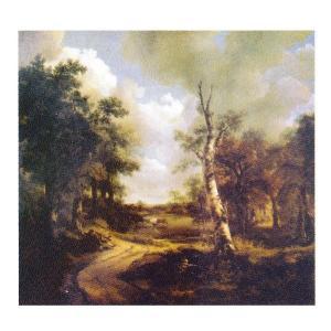 絵画 壁掛け 額縁 アートフレーム付き トーマス・ゲインズボロー 「ドリンクストーンの大庭園」 F8号 世界の名画シリーズ プリハード touo