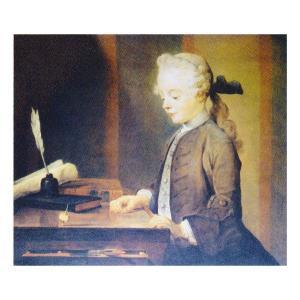 絵画 壁掛け 額縁 アートフレーム付き ジャン・シメオン・シャルダン 「ゴドフロアの肖像」 F8号 世界の名画シリーズ プリハード|touo