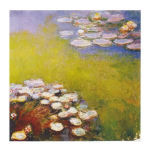 絵画 壁掛け 額縁 アートフレーム付き クロード・モネ 「睡蓮」 S8号 世界の名画シリーズ プリハード|touo