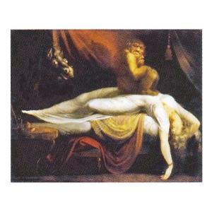 絵画 壁掛け 額縁 アートフレーム付き ヨハン・ハインリヒ・フュースリ 「夢魔」 F8号 世界の名画シリーズ プリハード|touo
