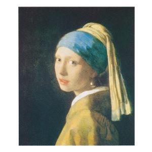 絵画 壁掛け 額縁 アートフレーム付き フェルメール 「青いターバンの少女」 F8号 世界の名画シリーズ プリハード|touo
