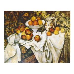 絵画 壁掛け 額縁 アートフレーム付き ポール・セザンヌ 「リンゴとオレンジ」 F8号 世界の名画シリーズ プリハード|touo