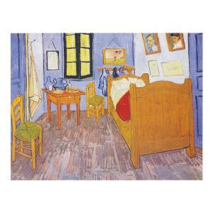 絵画 壁掛け 額縁 アートフレーム付き ヴィンセント・ヴァン・ゴッホ 「ゴッホの部屋」 F8号 世界の名画シリーズ プリハード|touo