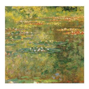 絵画 壁掛け 額縁 アートフレーム付き クロード・モネ 「睡蓮の池」 S8号 世界の名画シリーズ プリハード|touo