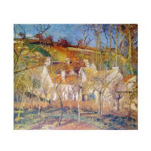 絵画 壁掛け 額縁 アートフレーム付き カミーユ・ピサロ 「赤い屋根」 F8号 世界の名画シリーズ プリハード|touo