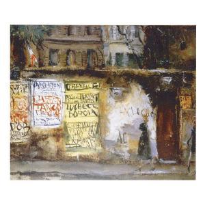 絵画 壁掛け 額縁 アートフレーム付き 佐伯 祐三 「ラ・クロッシュ」 F8号 世界の名画シリーズ プリハード|touo