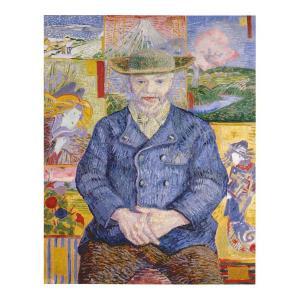 絵画 壁掛け 額縁 アートフレーム付き ヴィンセント・ヴァン・ゴッホ 「タンギー親爺の肖像」 F8号 世界の名画シリーズ プリハード|touo